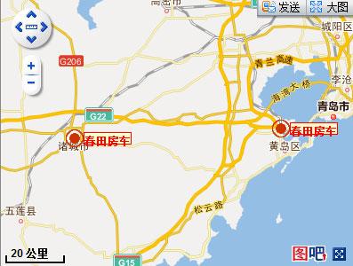 从诸城到青岛的地图